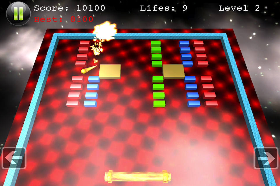 Screenshot Block Smasher – Breakout Arcade Fun Brick Breaker 3D Game